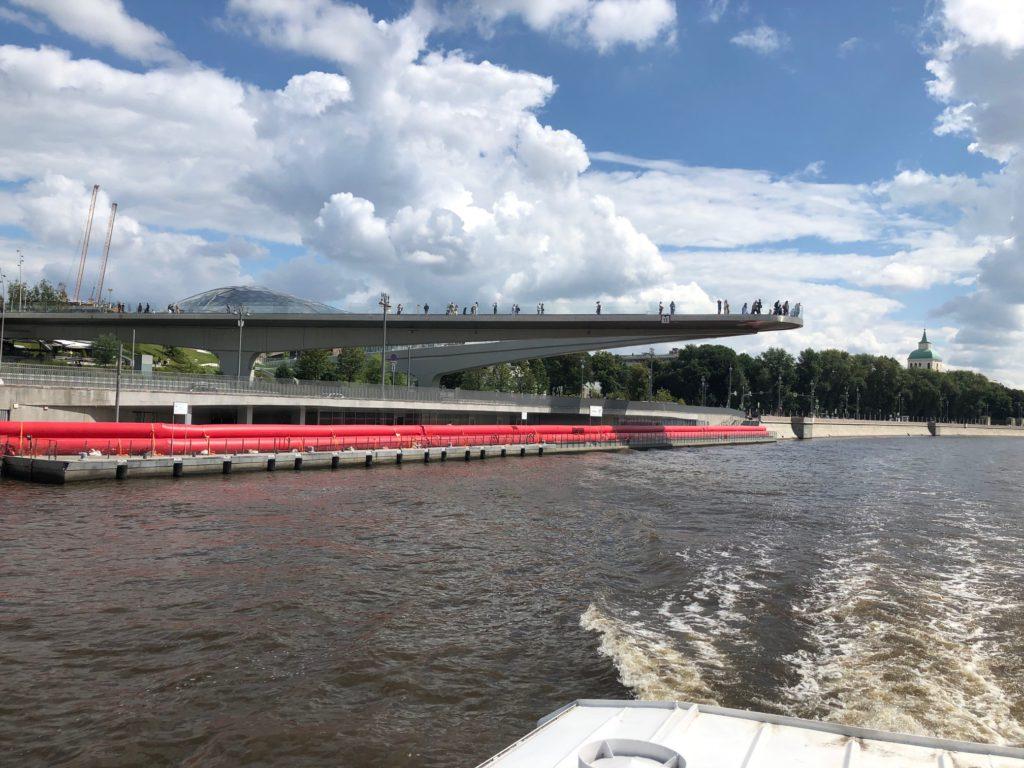 Парящий мост парк Зарядье